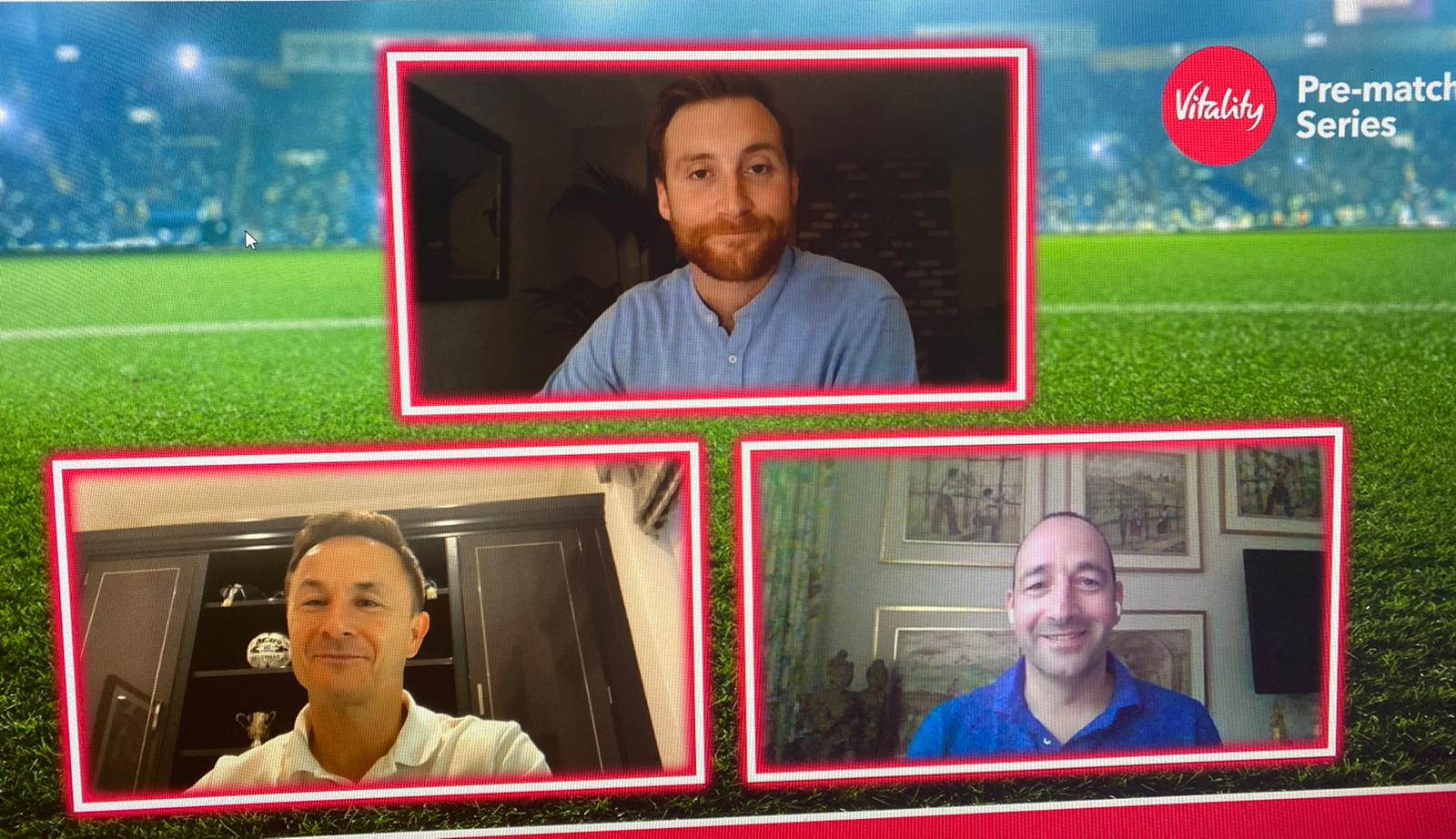 Toby Tarrant hosts Chelsea legend, Dennis Wise & Vitality's Greg Levine during an En2end virtual matchday event